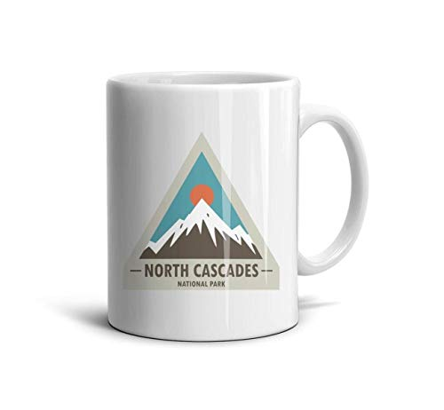 LOUTRTDF North Cascades National Park Mans and Womens 11oz Coffee Mug Novelty Office Cup