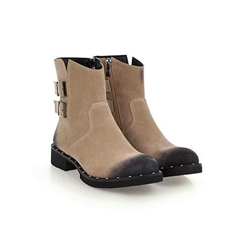 para Mujer wetkiss de Albaricoque SA073 Botas Ante qSw0UH