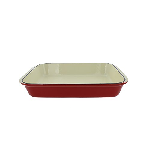 Chasseur 2.1-quart Red French Enameled Cast Iron Rectangular Roaster