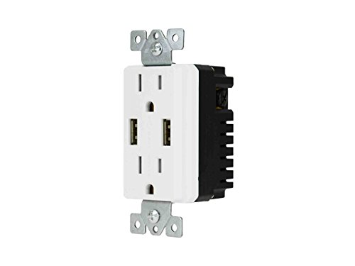 Monoprice 4.0A Décor Duplex USB Receptacle 15A/125V