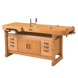 Sjobergs SJO-66922K Professional Elite 2000 European Beech Workbench & SJO-33464 SM04 Storage Cabinet Package by Sjobergs