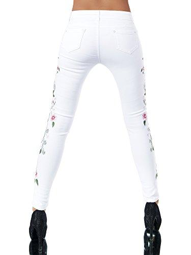 Jeans Skinny Vaqueros para Weiß Básico Diva Mujer 6qExdB6
