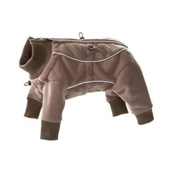 Hurtta Waterproof Fleece Overall Color:Brown Size:303 (Backlength 32.5cm / 12.8inch)
