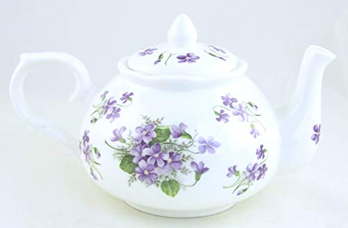Wild Violet Chintz - English Bone China Teapot - Adderley of England