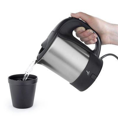 Lakeland Travel Kettle with Beakers, Spoons, Divided Container & Bag
