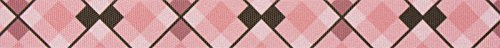 Country Brook Design | 7/8 Inch Pink and Brown Argyle Grosgrain Ribbon Closeout, 5 Yards (Ribbon Grosgrain Argyle)