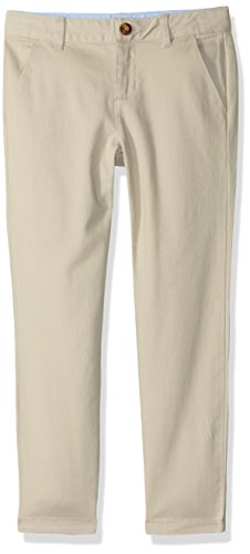 Gymboree Big Girls' Uniform Woven Chino Pant, Khaki, 4 by Gymboree
