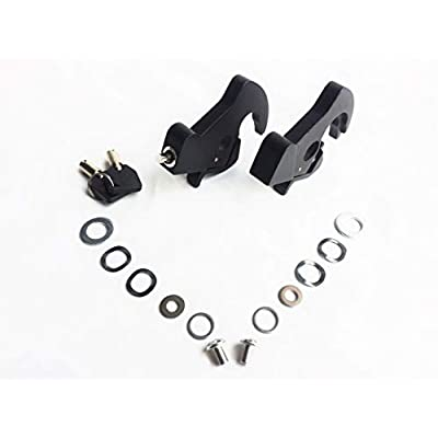 Locking Detachable Latch Kit Rotary Docking Latch Cam Lock Kit with Screw Caps for Harley Davidson HD Dyna Softail Sportster Touring Sissy Bar Luggage Rack (Black, 2 latches, 1 with keys): Automotive