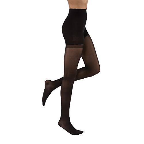 JOBST UltraSheer Waist High 15-20 mmHg Compression Stockings Pantyhose, Closed Toe, Large, Classic Black ()