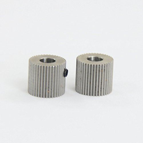 Signswise 2 Pack 5mm 40T Extruder Driver Feeder Gear Bore for Makerbot Mk7 Mk8 3D Printer
