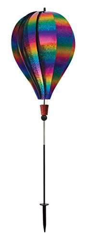 In the Breeze Rainbow Whirl 10-Panel Hot Air Balloon Ground Spinner -