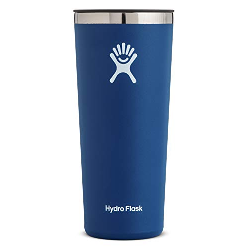 Hydro Flask Tumbler Cup - Stainless Steel & Vacuum Insulated - Press-In Lid - 22 oz, Cobalt