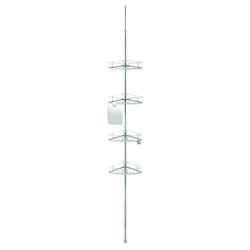 Better Living Products 13406 Fineline 4-Tier Shower Caddy with Mirror, Stainless Steel by Better Living