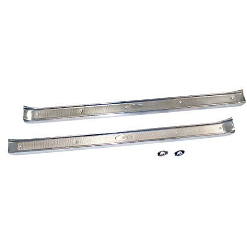 Eckler's Premier Quality Products 40-291429 - Chevy 2-Door Sill Plates With Body By Fisher Logo