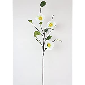 "White Camellia Artificial Flower - 38"" Tall 34"