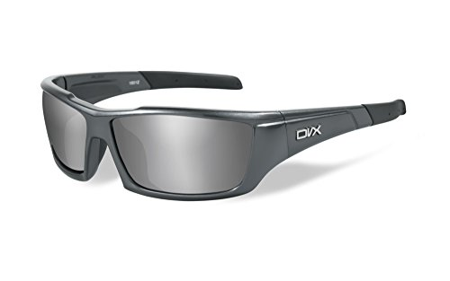 DVX by Wiley X -AXON- SUN & SAFETY GLASSES- SILVER FLASH LENSES/GUNMETAL GREY - Sunglasses Dvx