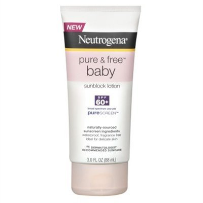 Neutrogena Pure & Fre Baby Spf 60+ Sunblock Lotion 3 Ounce (88ml) (6 Pack) by Neutrogena