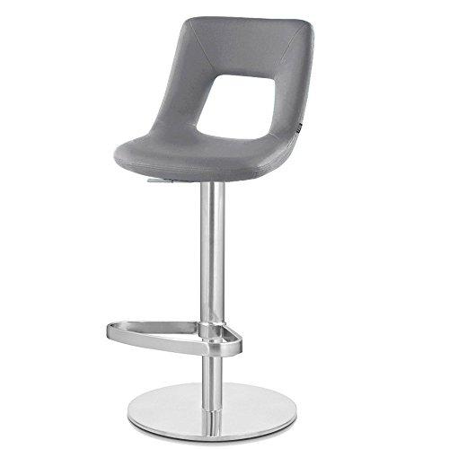 Zuri Furniture Slate Jazz Bar Stool – Round Flat Base For Sale