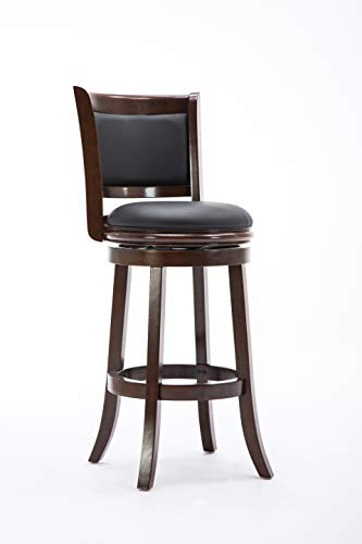 (Boraam 48829 Augusta Bar Height Swivel Stool, 29-Inch, Cappuccino)