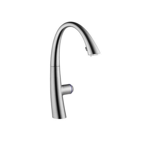 KWC Faucets 10.201.242.127 ZOE TLP Pull Down Kitchen Faucet with light, Splendure Stainless ()