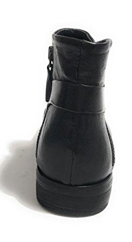negro Piel CAVALLINI para de negro mujer Botas FqqxXAHEw