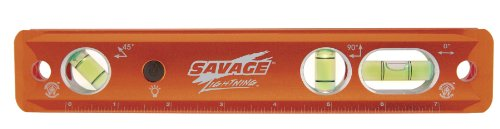 Swanson Tools TLL049M Lightning Aluminum Torpedo Magnetic Illuminated Levels, 9