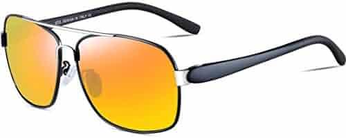 7e197285339 ATTCL Men s Polarized Sunglasses Rectangular for Men Driving Fishing Golf