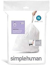 Simplehuman Code N (CW0174) Custom Fit Liners, 45-50L , 20ct