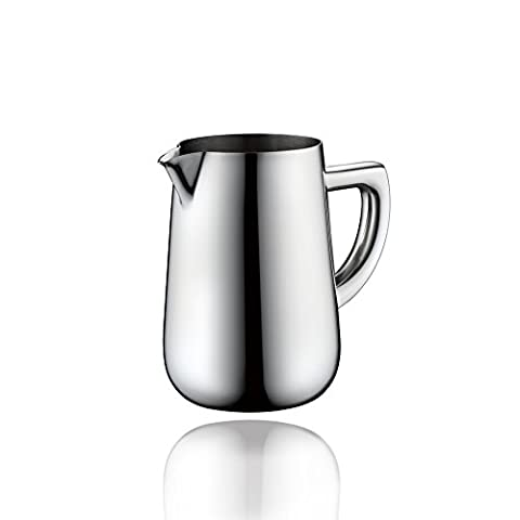Minos Stainless Steel Creamer Pitcher - 8.5 OZ - Condiment Server - Serving Coffee And Tea On Table - Hand Polished And Stainless - Carmel Bar Table