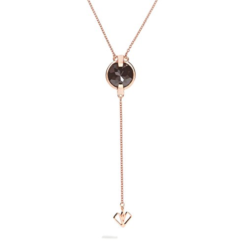 - Dualitas Black Onyx Elixir Arrow Necklace, 9 Ct Stone, Poished Rose Gold