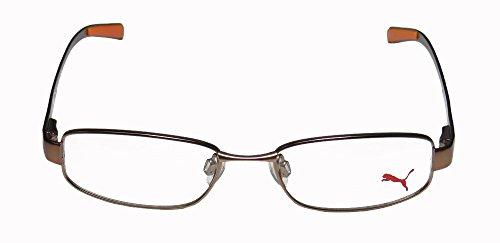 Puma Eyeglasses PU15361 PU/15361 Brown Full Rim Optical Frame - Puma Silver Sunglasses