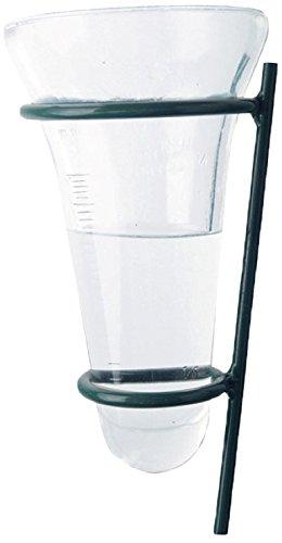 Esschert Design Rain Gauge Glass with Garden Stake Green