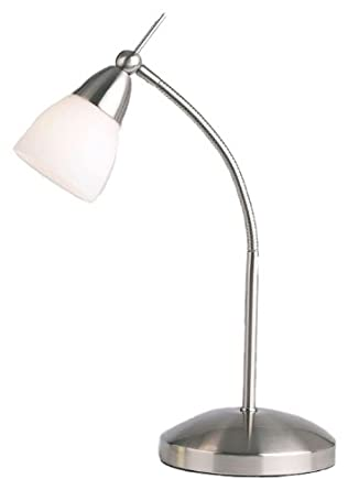 Satin Chrome Desk Lamp: Amazon.co.uk: Lighting
