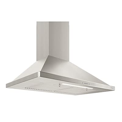Zephyr ZSI-E36BS 650 CFM 36 Inch Wide Wall Mount Range Hood with Centrifugal Blower, BriteStrip LED lighting, and Airflow Control Technology from the Essentials Europa Collection
