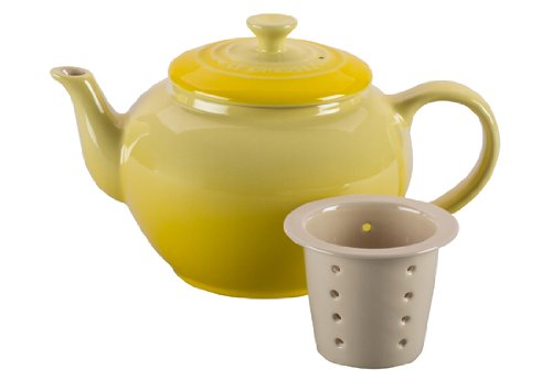 Le Creuset Stoneware 22-Ounce Teapot with Infuser, Soleil