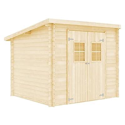 Garden Log Cabin Shed 3.3x2.6 m 28mm