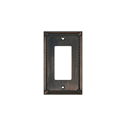 Rok Hardware Wall Light Decora Switch Plate Rocker Toggle GFCI Cover Traditional Brushed Oil-Rubbed Bronze 1 Gang