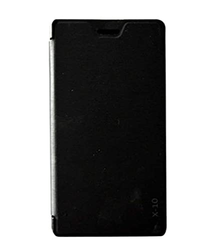 best service c2481 774ec COVERNEW Flip Cover for Lava X10 (Black)