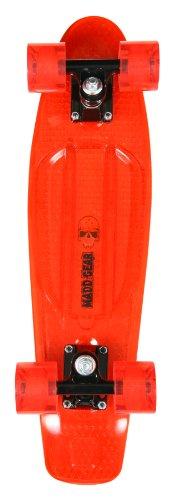 Madd Gear Translucent Retro Skateboard, Black