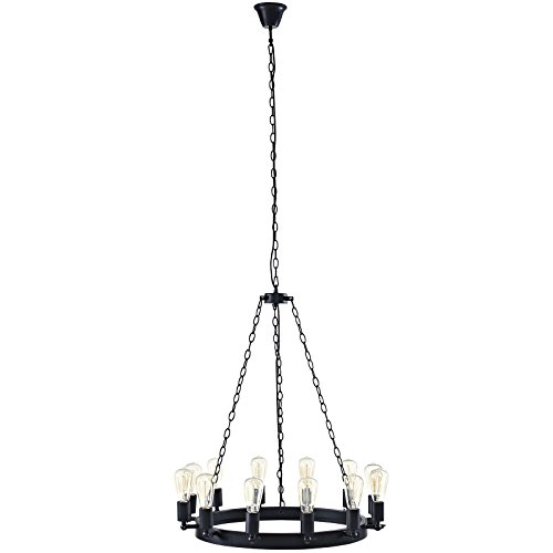 Plutus 29 Inch Chandelier In Brown Color