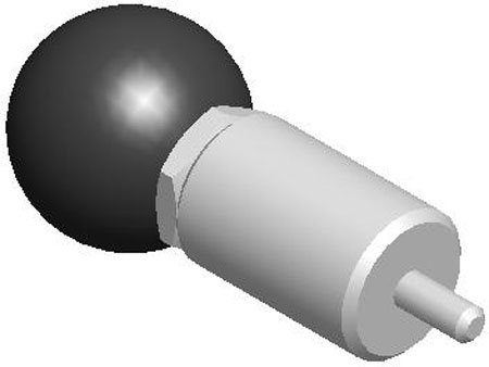 A=5/8, B=9/16, C=2 1/4, D=1, E=3/16, F=1 7/16, G=2 1/4, Steel Plunger-Housing, Lockout, T-Handle, Spring Loaded-Pull Pin (1 Each)