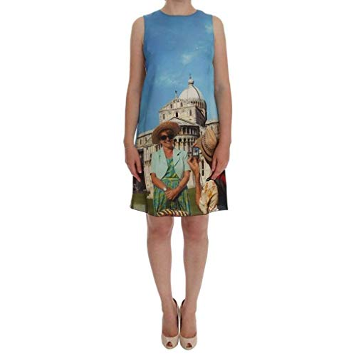 Dolce & Gabbana Multicolor Sanremo Shift Silk Dress