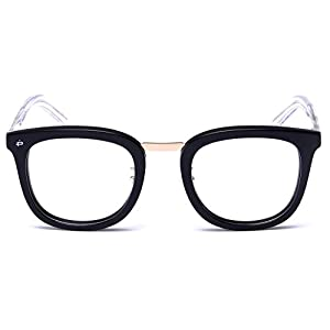 "PRIVÉ REVAUX ""The Alchemist"" [Limited Edition] Handcrafted Designer Eyeglasses With Anti Blue-Light Blocking Lenses For Men & Women (Black)"