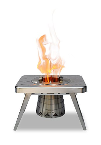 nCamp Compact Wood Burning Camping Stove, Backpacking Hiking Stove/Collapsible/Lightweight/Stainless Steel for Outdoors by nCamp