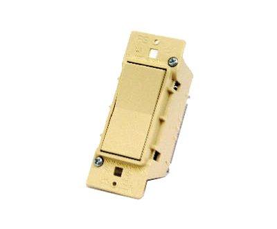 UNITED STATES HDW E-100C Ivory Single Electric Switch, 1-9/16 x 4-1/4