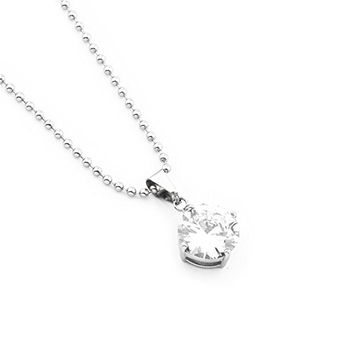 10ec4298c1aa mcsays acero inoxidable joyería Collar de cristal colgante de cadena con  brillantes y transparente Bling para