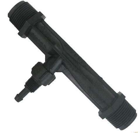 Mazzei (1078-02-PVDF) Gas/Liquid Injector - Kynar Black 1'' MNPT