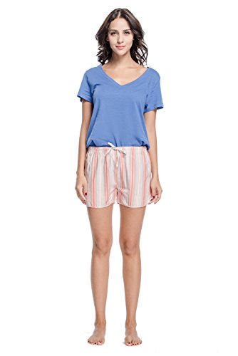 bea235821db CYZ Women s 100% Cotton Woven Sleep Shorts Pajama Shorts Petite Fit with  Lower Rise