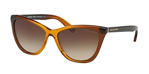 Femmes Divya 321813 Lunettes De Soleil, Gradient Orange / Smokegradient, 57 Michael Kors