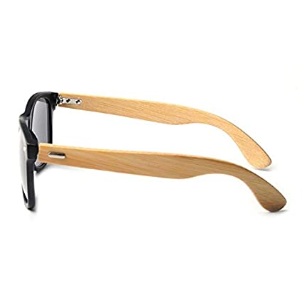 Amazon.com: 2019 Retro Bamboo Wood Sunglasses Men Women ...